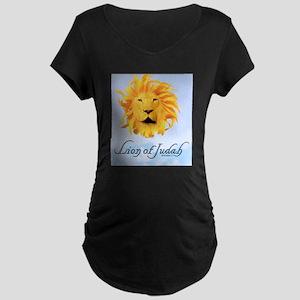 Lion of Judah Maternity Dark T-Shirt