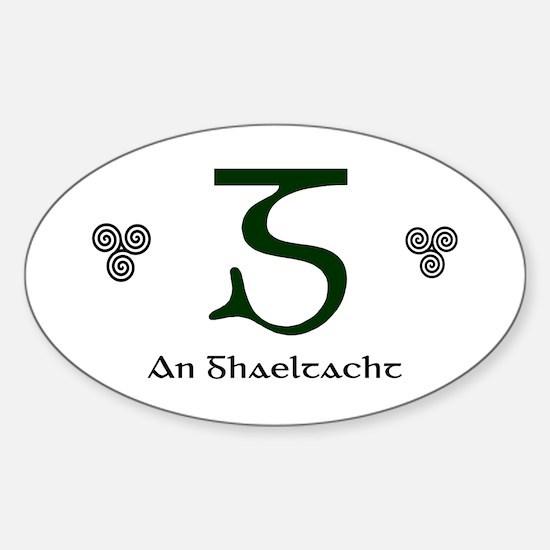 An Ghaeltacht Sticker (Oval)