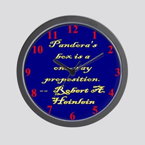 Pandora's box is a one-way proposition. Wall Clock