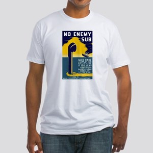 No Enemy Gun Fitted T-Shirt