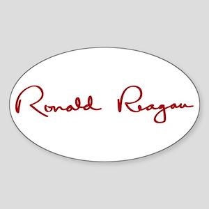 Ronald Reagan Signature Sticker (Oval)