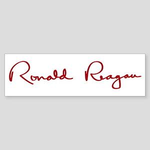 Ronald Reagan Signature Sticker (Bumper)