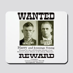 Young Brothers Wanted Mousepad