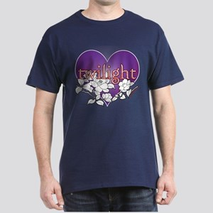Twilight Heart Flower by twibaby Dark T-Shirt