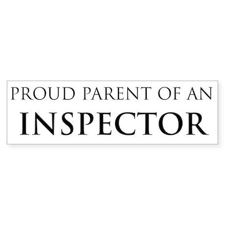 Proud Parent: Inspector Bumper Sticker