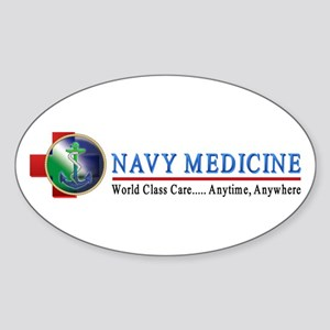 Navy Medicine Oval Sticker