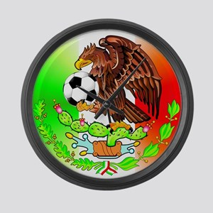 MEXICO SOCCER EAGLE FUTBOL Large Wall Clock