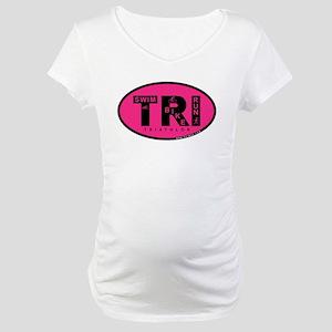 Thiathlon Swim Bike Run Maternity T-Shirt