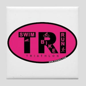 Thiathlon Swim Bike Run Tile Coaster