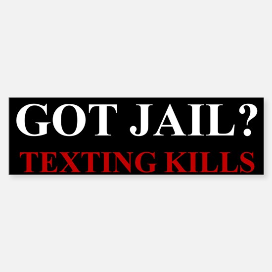 Got Jail? Sticker (Bumper)