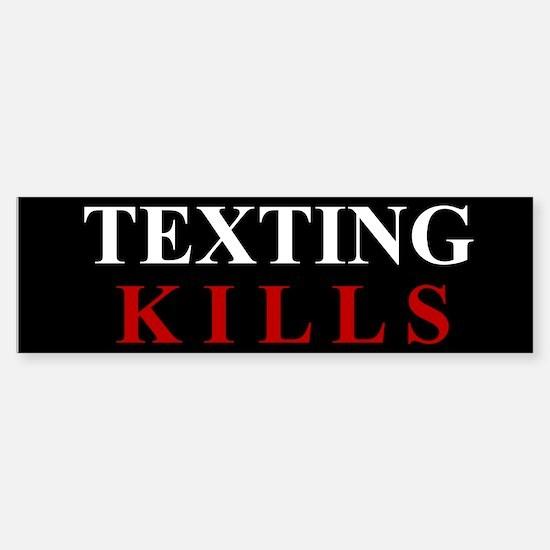 Texting Kills Sticker (Bumper)