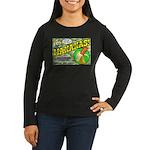 Mananas Women's Long Sleeve Dark T-Shirt