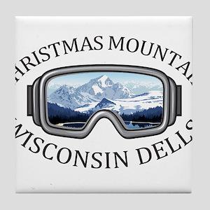 Christmas Mountain Village - Wiscon Tile Coaster