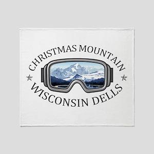 Christmas Mountain Village - Wisco Throw Blanket