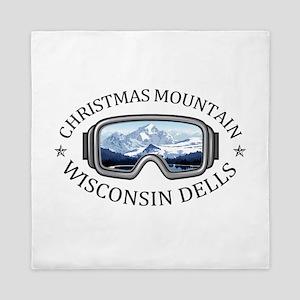Christmas Mountain Village - Wiscons Queen Duvet