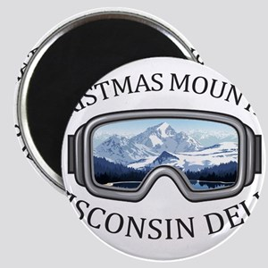 Christmas Mountain Village - Wisconsin D Magnets