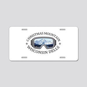 Christmas Mountain Village Aluminum License Plate