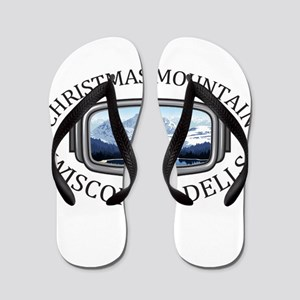 Christmas Mountain Village - Wisconsi Flip Flops