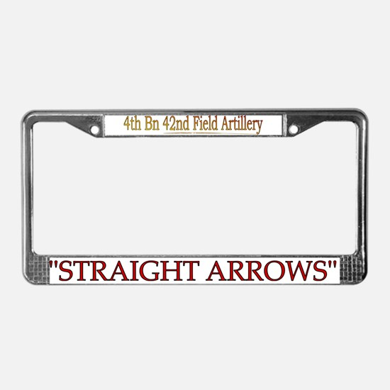 4th Bn 42nd FA License Plate Frame