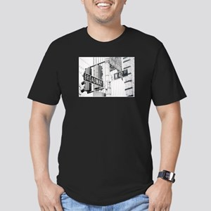 NY Broadway Times Square - Men's Fitted T-Shirt (d