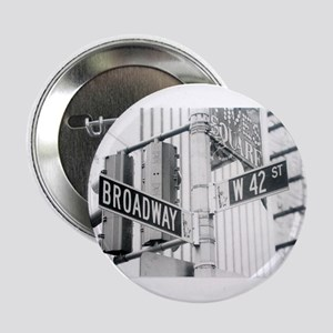 """NY Broadway Times Square - 2.25"""" Button"""
