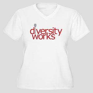 Diversity Works Women's Plus Size V-Neck T-Shirt