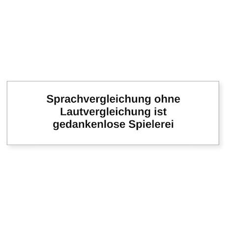 Sprachvergleichung Bumper Sticker