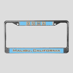 Zuma Beach Ca License Plate Frame
