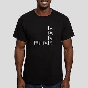 Scrabble Wine Men's Fitted T-Shirt (dark)