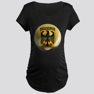 Deutschland Football Maternity Dark T-Shirt
