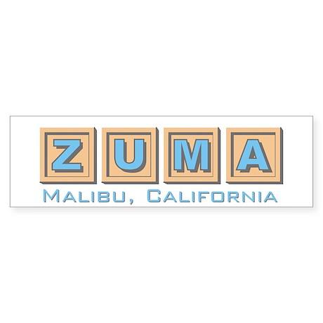 Zuma Beach Ca Bumper Sticker 1