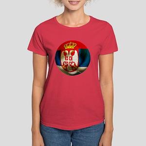 Serbia Football Women's Dark T-Shirt