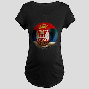 Serbia Football Maternity Dark T-Shirt