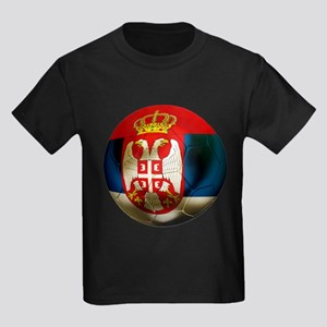 Serbia Football Kids Dark T-Shirt