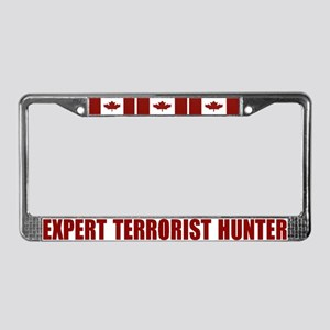 CANADA-EXPERT TERRORIST HUNTER License Plate Frame