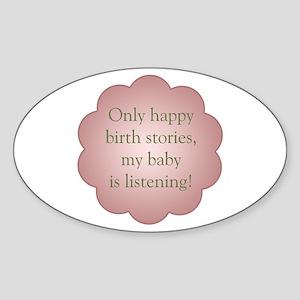 Birth Stories - Sticker (Oval)