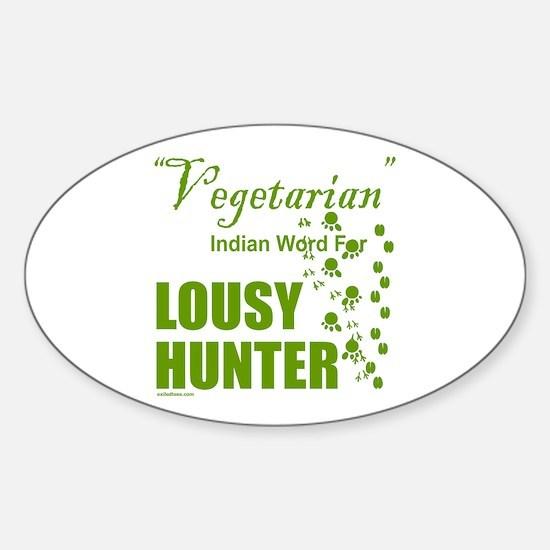 LOUSY/BAD HUNTER Sticker (Oval)