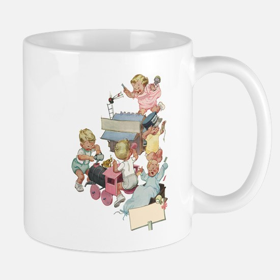 Vintage Children Playing Mug