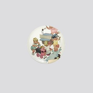 Vintage Children Playing Mini Button