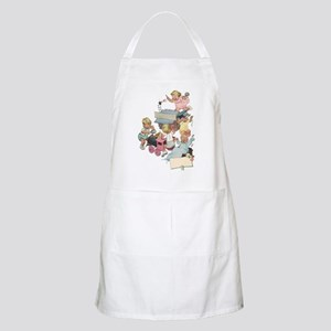 Vintage Children Playing Light Apron