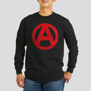 Anarchy Simple Symbol Long Sleeve Dark T-Shirt