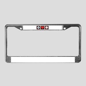 I LOVE BASEBALL License Plate Frame