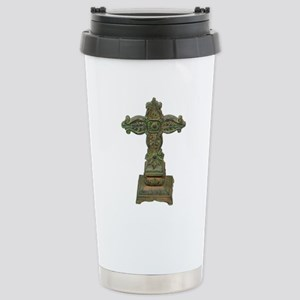 Antique Cross Stainless Steel Travel Mug