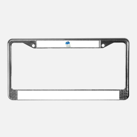 Profile of pain License Plate Frame