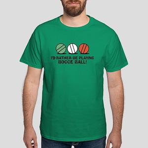 Funny Bocce Dark T-Shirt