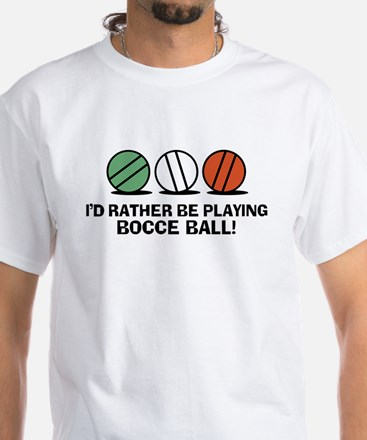 Funny Bocce White T-Shirt