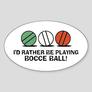 Funny Bocce Sticker (Oval)