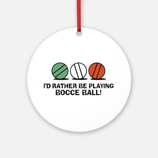 Funny Bocce Ornament (Round)