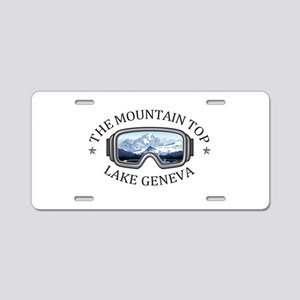 The Mountain Top at Grand G Aluminum License Plate