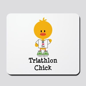 Triathlon Chick Mousepad
